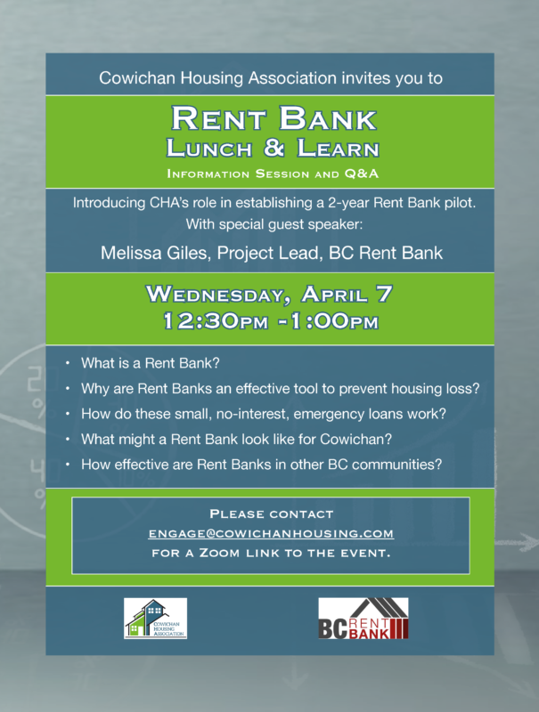 Rent Bank Lunch and Learn poster 1